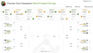 Qlik World Football Fan App - Choose Your Champion