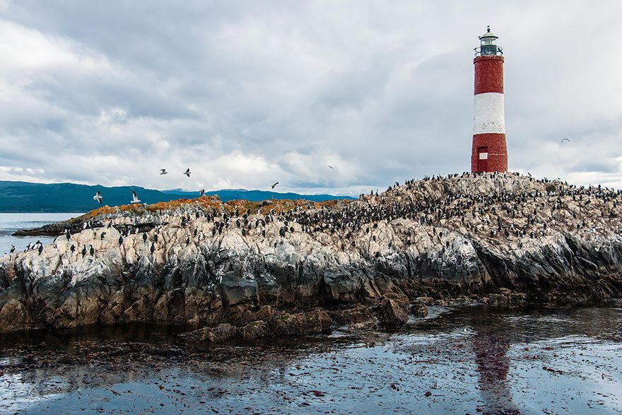 Lighthouse in Beagle Channel, Argentina_Chile