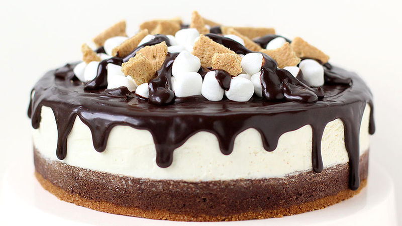 Brownie S'mores Cheesecake