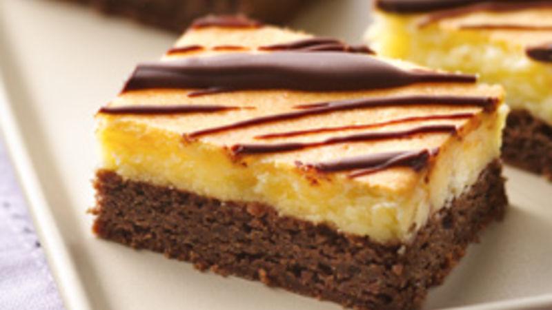 Glazed Cheesecake Brownies