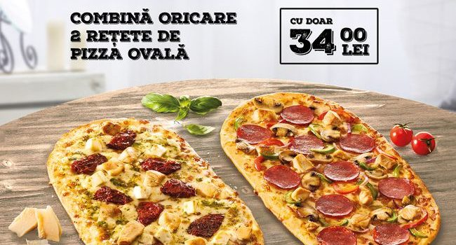 Pizza Hut lasează pizza ovală Summer Breeze, Fair Play, Bit of spicy sau Rainbow